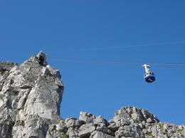 Heading up to the top of Table Mountain, Nick - March 2012
