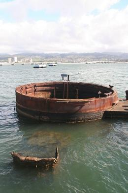 USS Arizona Gun Turret - December 2008