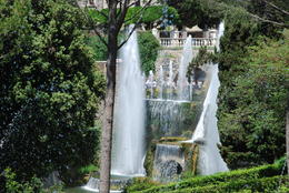 Villa d'Este waterfalls that come from a diverted river built in 16th C , Margaret K - June 2017
