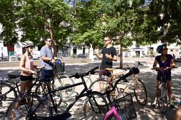 Tim explaining some history of Malaga , rwky - July 2017