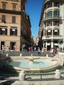 The Fontana della Barcaccia or Fountain at the Spanish Steps , David M - August 2017