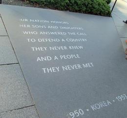 Korean War Memorial , Donna W - October 2012