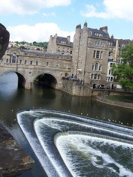 River in Bath - view from where we got off the bus, Robert M - July 2010