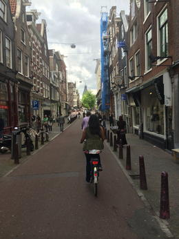 biking through the jordaan. , Beryl M - August 2014