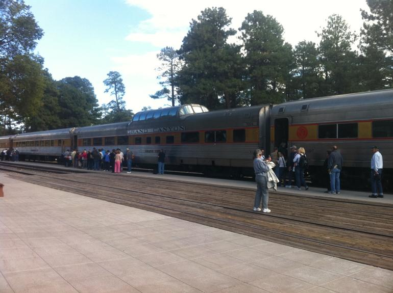 Boarding the train - Grand Canyon National Park