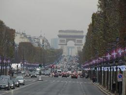 spectacular view of the Champ Elysee while on the bus tour , Vic - December 2012