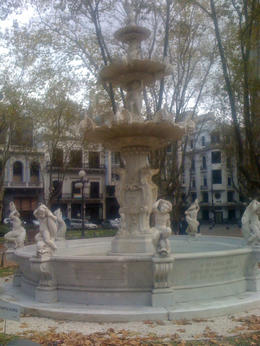 Cool looking fountain in downtown Montevideo., Bandit - June 2012