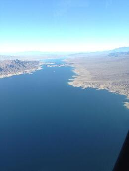 Flying back towards Vegas over Lake Mead , Rosie W - April 2014