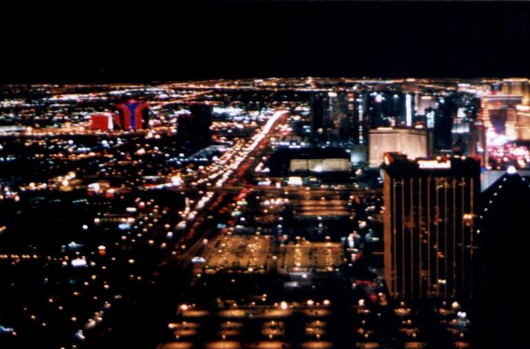 Las Vegas Strip as seen from the helicopter - Las Vegas