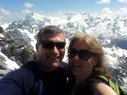Julie and Andrew on Mount Titlis Perfect day for it! , Julie M - June 2015