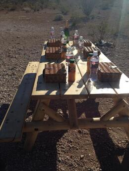 We enjoyed a picnic lunch below the rim of the canyon. It was awesome, Krystal W - March 2014