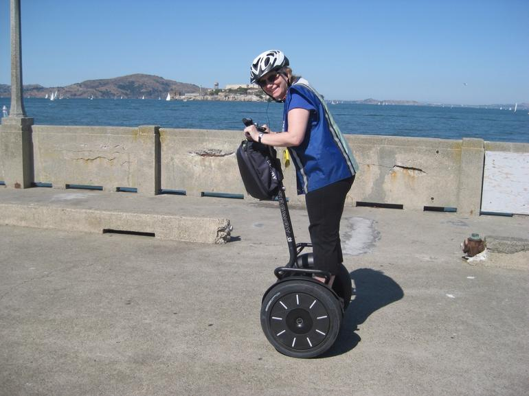 Rolling by Alcatraz on a Segway - San Francisco