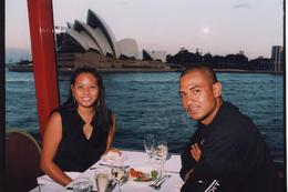 Sunset Dinner Cruise, Sydney Harbour - Opera House in background - August 2009