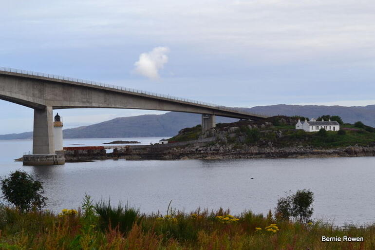 The Skye Bridge from the Island side. -