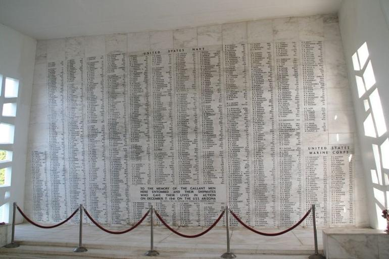 USS Arizona Memorial Wall of Honor - Oahu