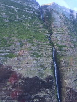 We flew right next to this tall waterfall, jenvald - February 2015