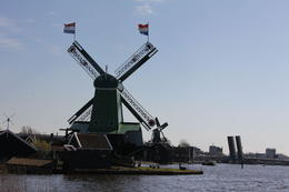 Just one of the many striking windmills at Zaansee Schans , Derek P - May 2013