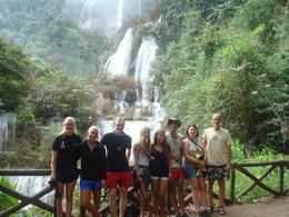 Our group at the Thi Lo So Waterfalls , Robert L - December 2016