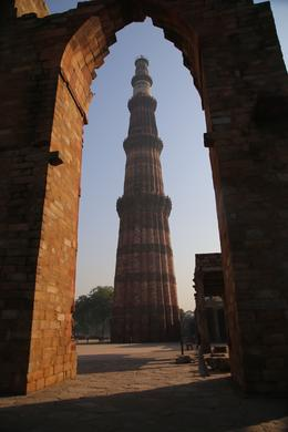 The Victory Tower at Qutb Minar - with some Delhi smog , Bernard F - December 2017