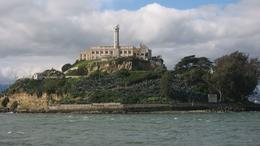 approaching Alcatraz on ferry boat, Liz A - February 2010