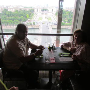 and lunch at the eiffel tower at the eiffel tower restaurant