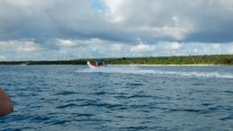 Speed boat raced on the way back to PuntaCana , Lori F - February 2017