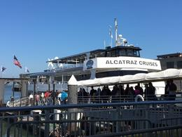 Boarding the ferry to go to Alcatraz , Carol C - September 2016