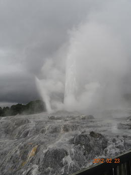 A spectacular view of the geyser . , Jose G. A. - March 2012