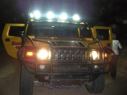 The Hummer's are outfitted with lights on top for night tours!, JennyC - November 2010