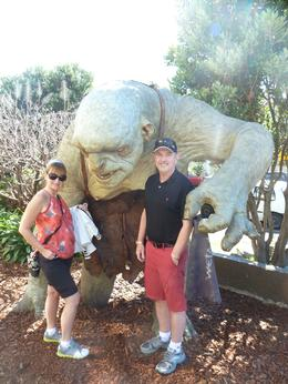 My husband and I with a Troll outside the Weta shop, just before going into the workshop tour which was fascinating. , deborah e - February 2014