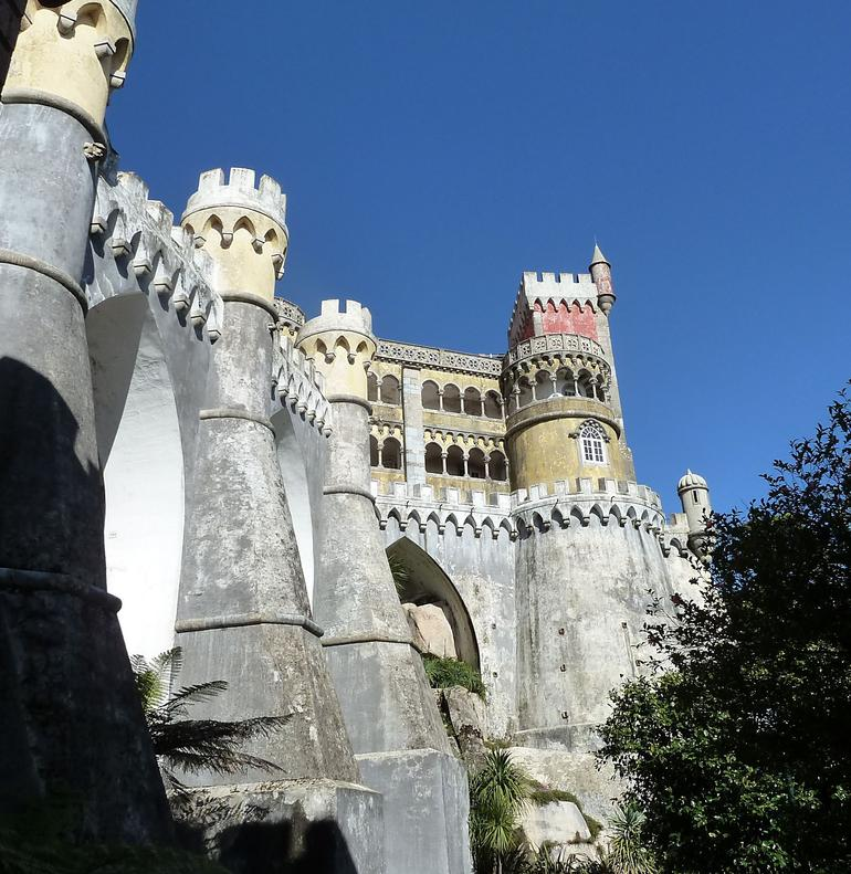 Pena Palace from below - Lisbon