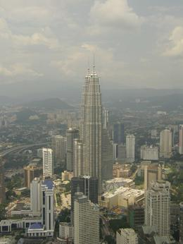 Looking across at the Petronas Towers from the KL Tower., Tighthead Prop - September 2010