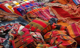 Shop for hand-made merchandise at indigenous market in Chincheros near Cusco - June 2011