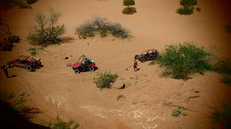 Looking down at our Dune Buggys, Lovenwar - May 2013