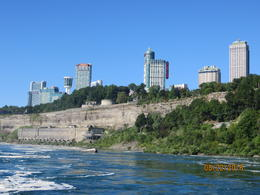 A skyline picture of the hotels from the Falls , Patricia M - August 2016