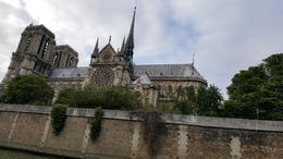 Notre Dame as seen from the water taxi , James M - August 2017