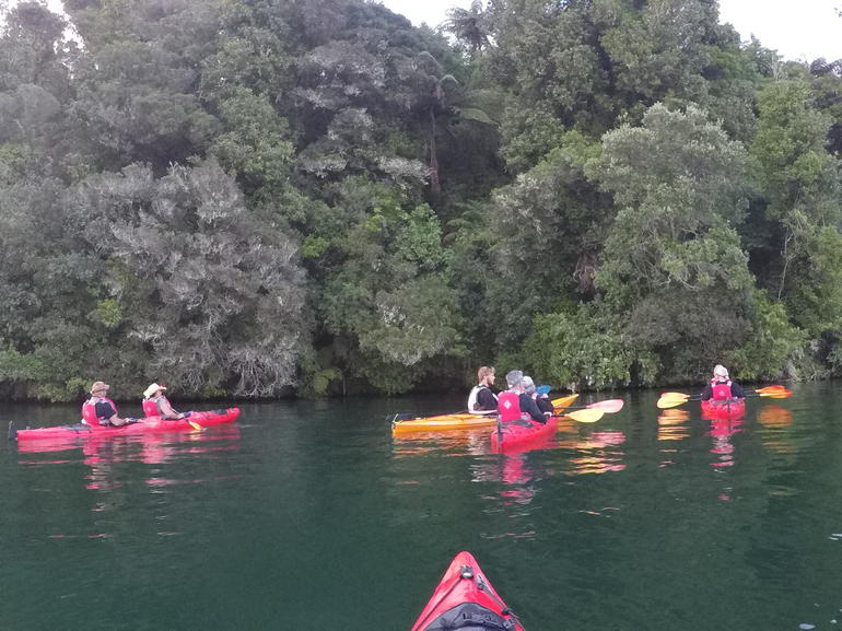 Lake Rotoiti Evening Kayak Tour including Hot Springs, Glowworm Caves and BBQ Dinner photo 7