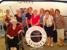 Cloggers Unlimited boarding the cruise , Tina T - July 2012