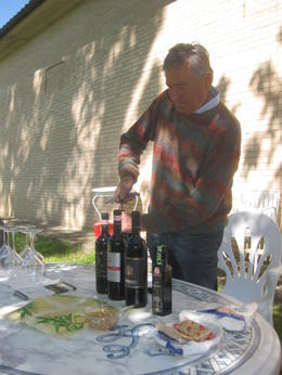 5th Generation winemaker opens his wine for us to taste. , Frederick D - May 2012
