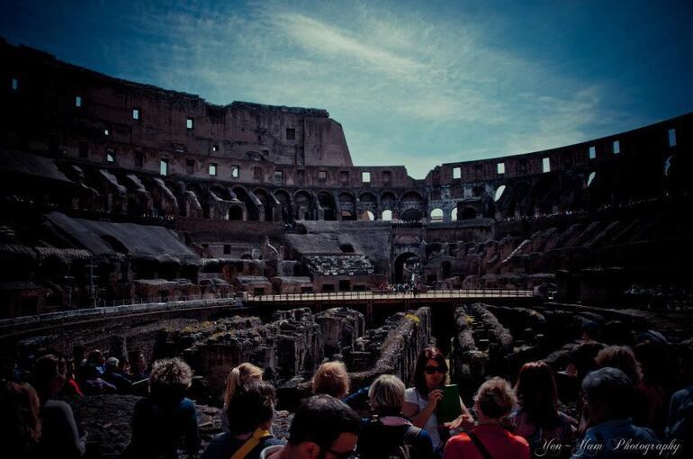 Inside view of Colloseum. - Rome