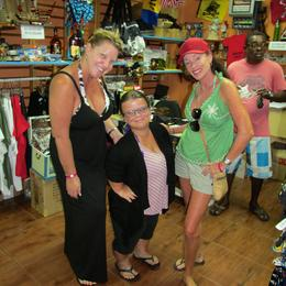 this is Meghan who runs the office, and us, before the snorkel trip , sharonl - June 2014
