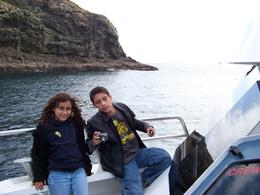 My kids enjoying the boat cruise - August 2009