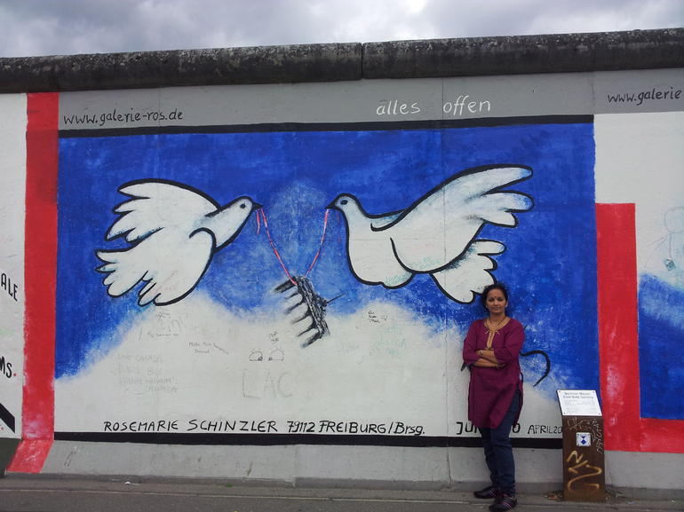 Neha at Berlin wall - Berlin