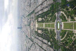 A great view of the park behind (in front depending on your perspective) the Eiffel tower. , Jeff & Kathy - July 2012
