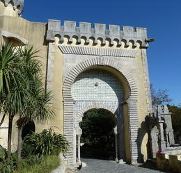 This Moorish gate is the main entrance into Pena Palace. , Anne K - December 2011
