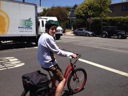 Getting use to the bike! , Pauline M - June 2014