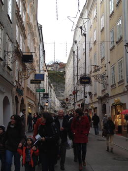The main shopping/tourist street in the town. , Mike G - November 2014