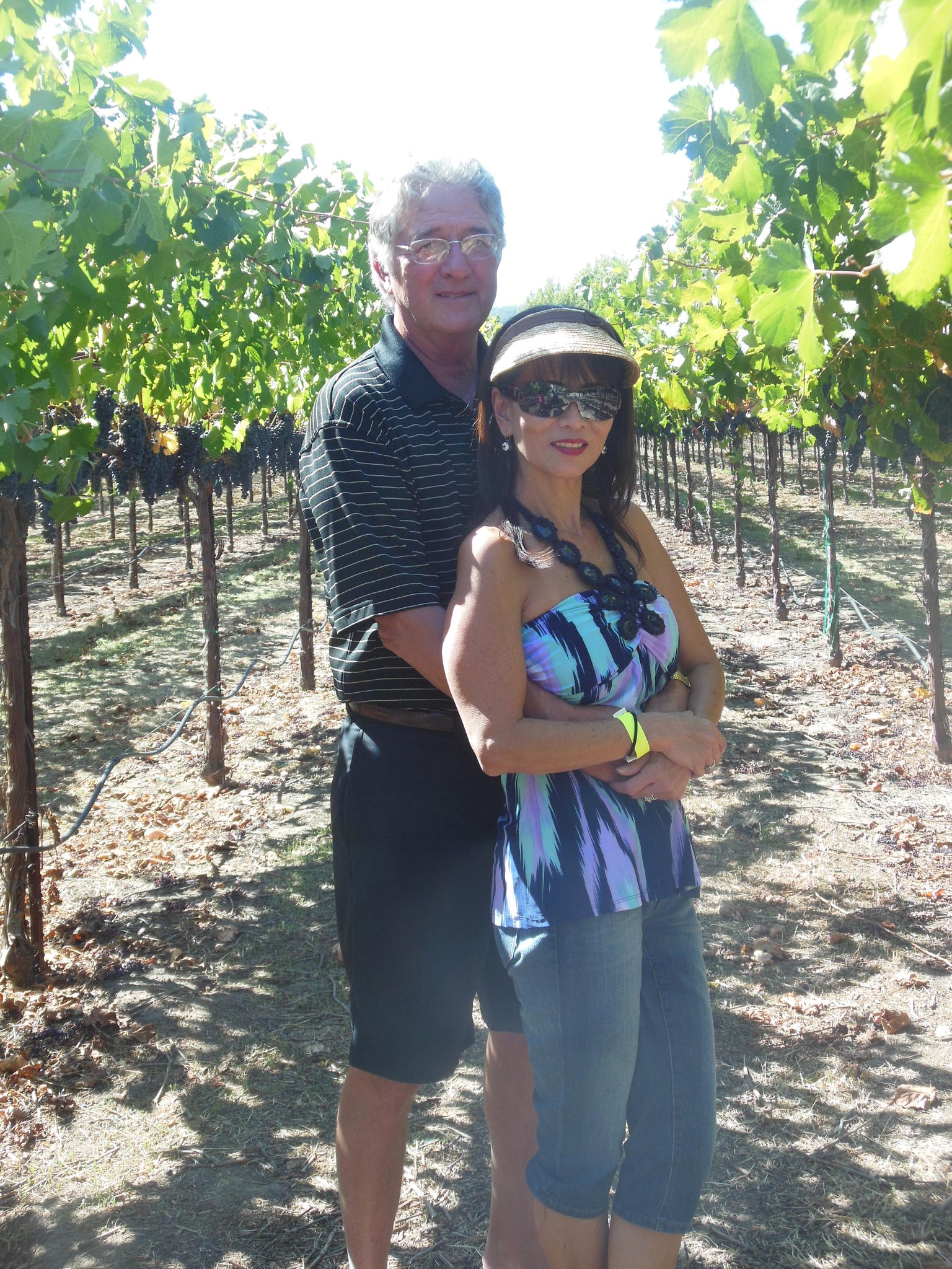 Visiting Bell winery.