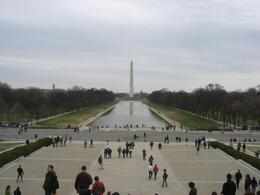 Taken from the top of the stairs in the Lincoln Memorial., Natalia G - March 2008