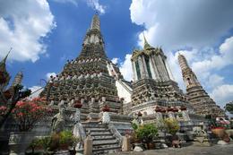 Wat Arun (Temple of the Dawn) ancient remains in Bangkok, Thailand - June 2011